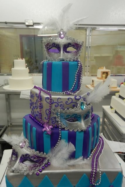 For a Masquerade Themed Wedding  By Carlos Bakery  Hoboken, New Jersey