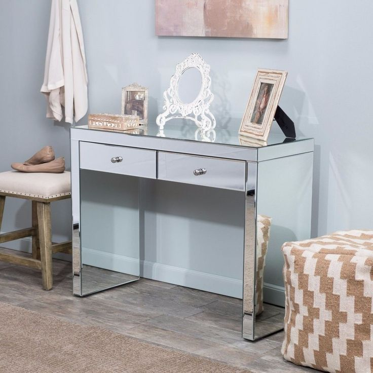 17 best ideas about mirrored vanity on pinterest mirrored vanity table makeup vanity lighting. Black Bedroom Furniture Sets. Home Design Ideas