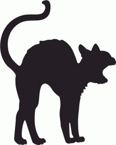 1000 images about silhouette halloween on pinterest for Black cat templates for halloween