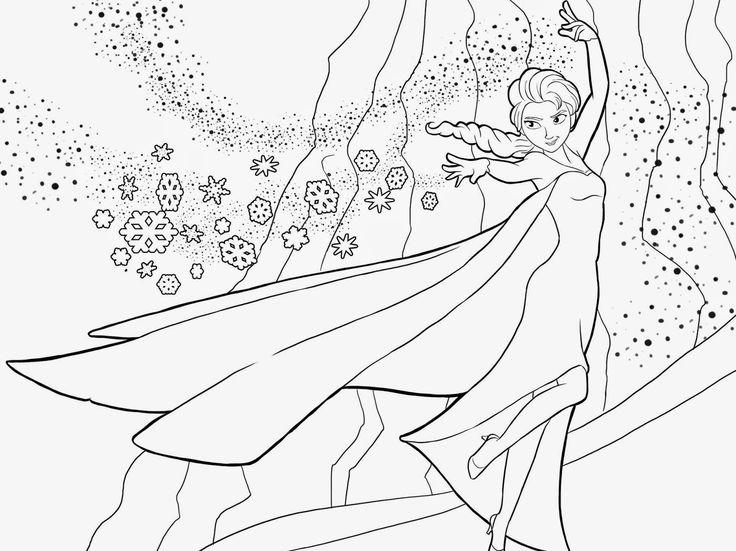 BAUZINHO DA WEB - BAÚ DA WEB : Desenhos de Frozen, uma aventura congelante para colorir, pintar e imprimir!