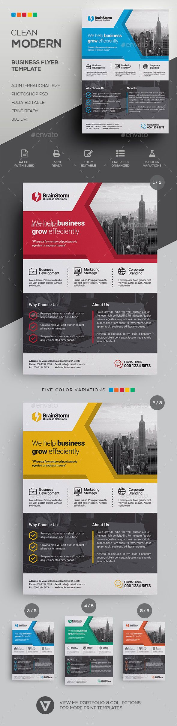 Corporate Business Flyer Template 564 best Design
