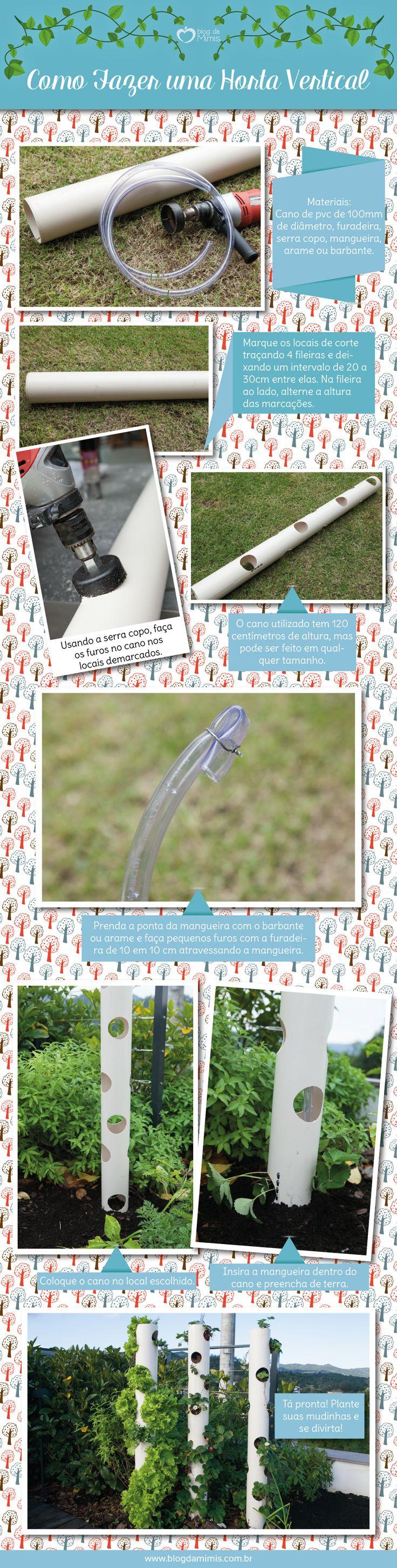 DIY: Como fazer uma horta vertical - Blog da Mimis -  Tutorial ensina fazer uma horta vertical fácil e charmosa.