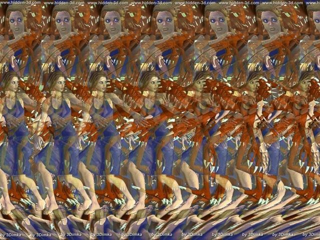 30 Best Pictures 3D Stereograms stereogram