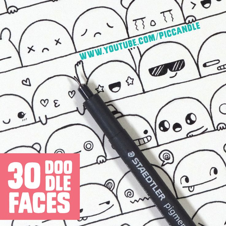 ❋ New Video ~ 30 Cute Faces / Expressions to Doodle Watch it here…