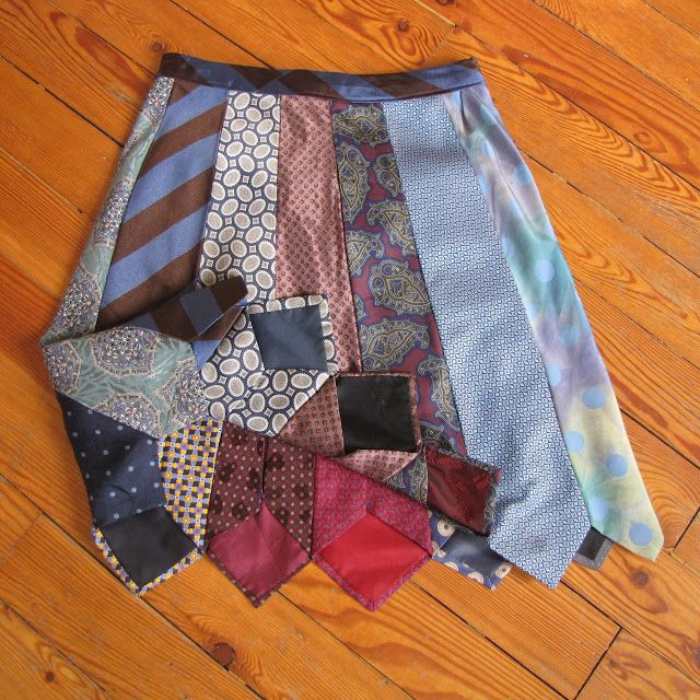 Make a skirt from all of those old ties! K saw a YW at EFY with this skirt-she loved it!