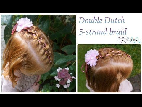 Double Dutch 5-strand braid with ribbon - Dubbele 5-strengen opvlecht met lint - YouTube