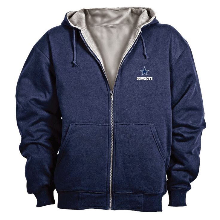 NFL Craftsman Full Zip Thermal Hoodie Full zip heavy hooded sweatshirt provides great warmth and comfort Insulated hood with drawcord Heavy-duty brass zipper for lasting durability Machine washable and easy to care for 95% cotton/5% polyester rib knit cuff and waistband ,Poly-thermal insulation ,80% cotton/20% polyester fleece shell ,Officially licensed by the NFL http://livinggood-entrepeneural.blogspot.com/2014/11/gift-ideas-for-dallas-cowboys.html