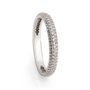 Кольцо дорожка с бриллиантами Белое золото 585 пробы
