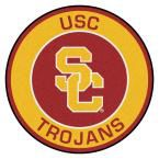 Ncaa University of Southern California Gold 2 ft. 3 in. x 2 ft. 3 in. Round Accent Rug
