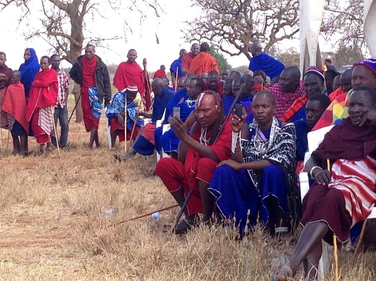 What do traditional Maasai people use mobile phones for?