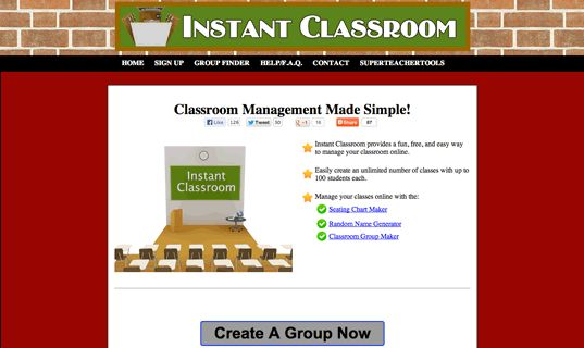 Manage your classes online with the:      Seating Chart Maker     Random Name Generator     Classroom Group Maker