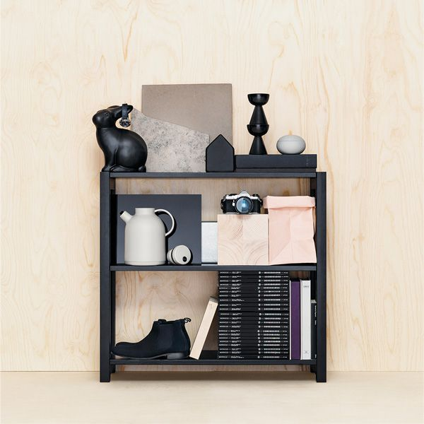 Lundia Open shelf, black lacquered | Bookcases | Furniture | Finnish Design Shop