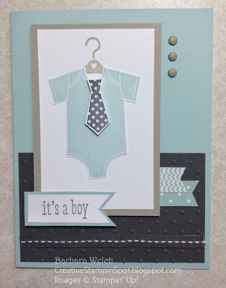 Baby Card Making Ideas Part - 25: Creative Stampinu0027 Spot - Barbara Welch Something For Baby -