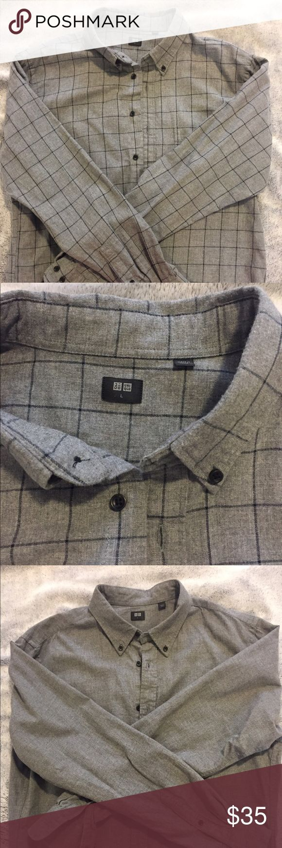 UNIQLO Flannel Shirts for men (3 of them) 3 different flannel shirts for men!! Super soft. All three for $35 or each for $13. Just let me know :-) Uniqlo Shirts Casual Button Down Shirts