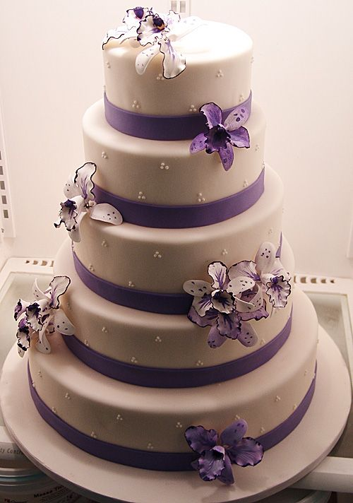Purple Wedding Cake Ribbon