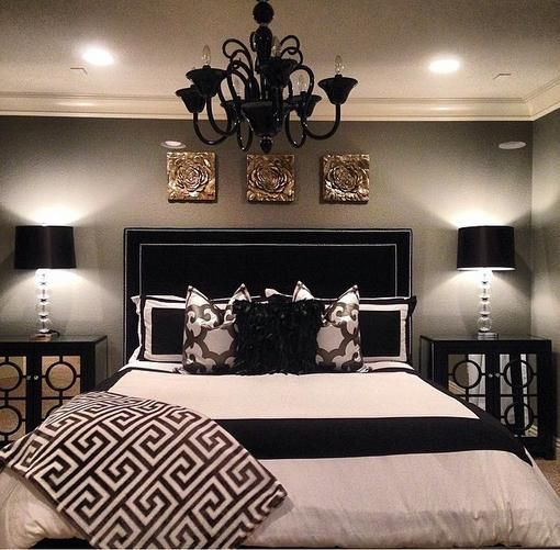 blacksparkling - Black White Bedroom Decorating Ideas
