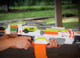 This Nerf gun is no ordinary toy, and this particular model is exciting for 10 years and above. The customizable NERF N-Strike Modulus Blaster can be rebuilt into 30 different models making it a versatile and interesting for boys who are actively seeking adventure. It is the perfect pairing to your kid's imagination, and can help make their war games and fake battles that much more exciting. The gun is retailed with a scope that can help kids target accurately. Read full review on our site