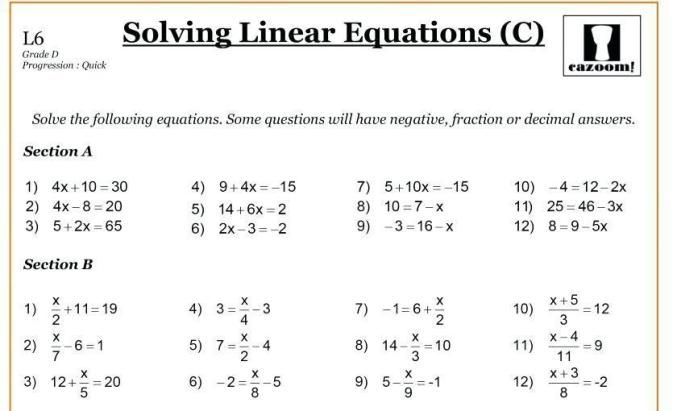 10 Math Worksheets Grade 8 Integers In 2020 Gleichungen Multiplikationsarbeitsblatter Arbeitsblatter