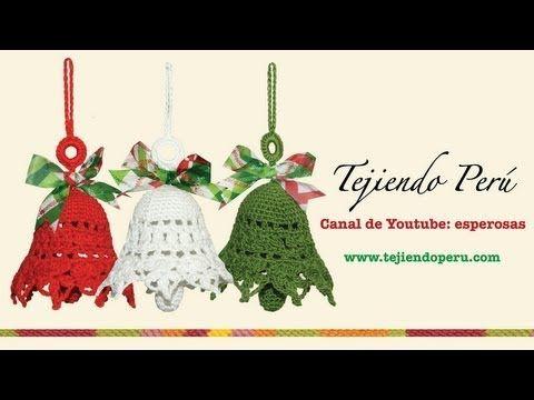Campanas tejidas a crochet - Tejiendo Perú