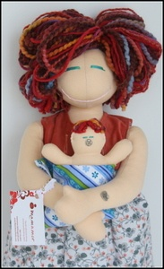 Mamamor Handmade Birthing and Breastfeeding Dolls. So awesome! So much better than an unrealistic Barbie doll ;)