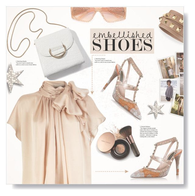 """""""Nude But Not..."""" by desert-belle ❤ liked on Polyvore featuring Fendi, Valentino, Nude by Nature, valentino, fendi, swarovski and polyvoreeditorial"""