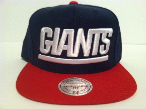 Mitchell & Ness New York Giants Snapback Hat by Mitchell & Ness. $23.99. Mitchell & Ness , Big Logo New York Giants Snapback Hat. Color: Navy & Red