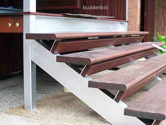 Angular Design For Open Stair Tread