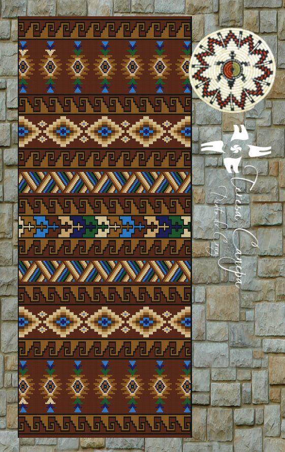 ✄ PATRON PUNTO CRUZ  Alfombra Armonía 2  Para bordar con Lanas Gruesas.  184 puntos de ancho  330 puntos de largo.  Medidas aprox. si se borda en esterilla gruesa y lanas gruesas:   76,5 cm de ancho  1,25 Mt de largo  Utiliza 9 colores . http://puntocruzandino.weebly.com/