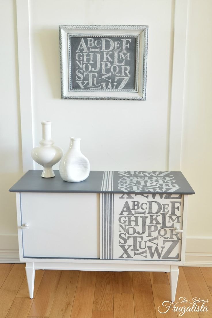 makeover with metallic paint vintage chest gets modern makeover ...