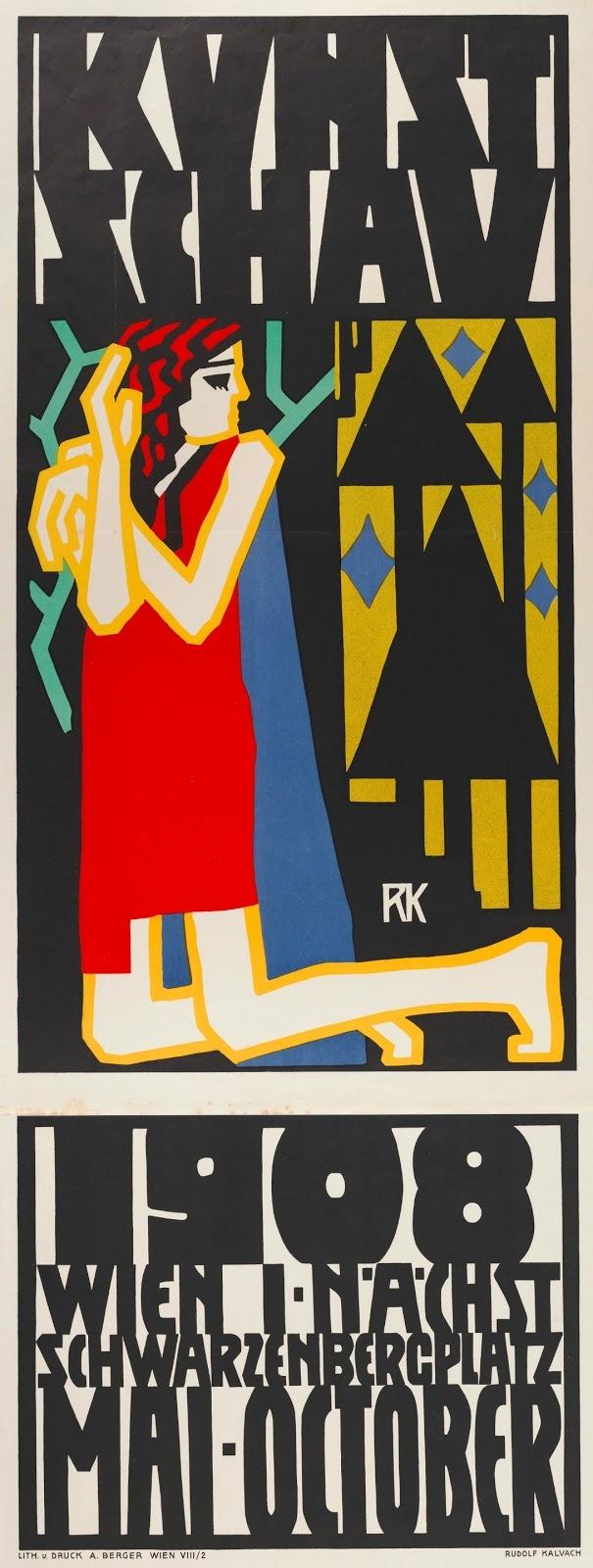 vintage poster / Rudolf Kalvach, 1908