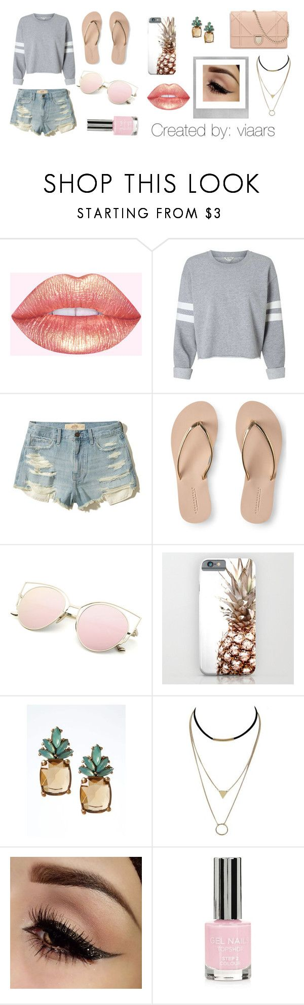 """""""Summery"""" by viaars on Polyvore featuring moda, Hollister Co., Aéropostale, Banana Republic, Polaroid y Topshop"""