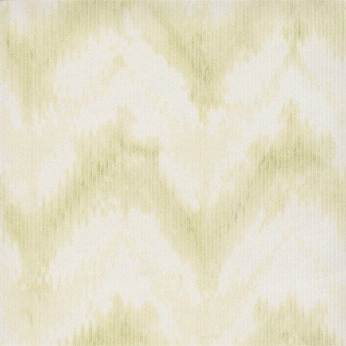 The modern twist of washy waves of this tie-dye looking chevron works wonderfully for pastel green bedroom wallpaper | Lime Green Mod Chevron Wallpaper R2733