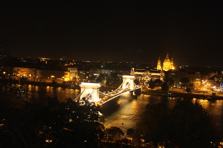 Budapest by night with Chain Bridge and St Stephens Basilica!