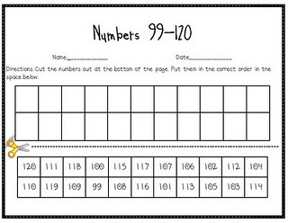 Here is a form and game to help kids with numbers beyond 100.
