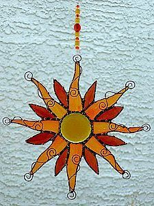 Light up the sky - by Dianne McGhee from Glass Art Cold Art Gallery
