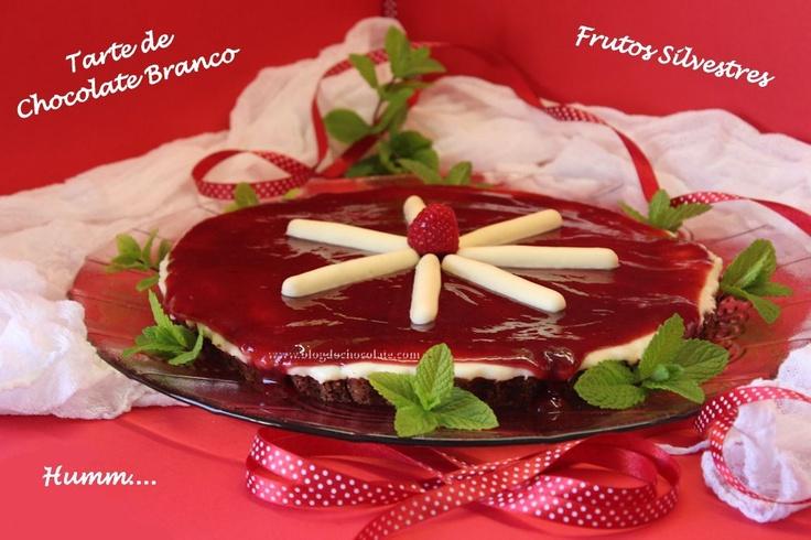 Tarte de Chocolate Branco com Doce de Frutos Silvestres / White Chocolate Pie with Berries Jam
