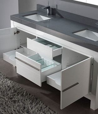 White Bathroom Vanities - modern - bathroom vanities and sink consoles - los angeles - Vanities for Bathrooms
