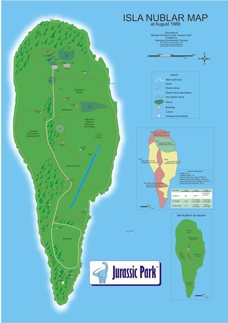 14 best isla nublar reconstructions jurassic park michael crichton fan made map of isla nublar based on descriptions in the novel jurassic park gumiabroncs Images
