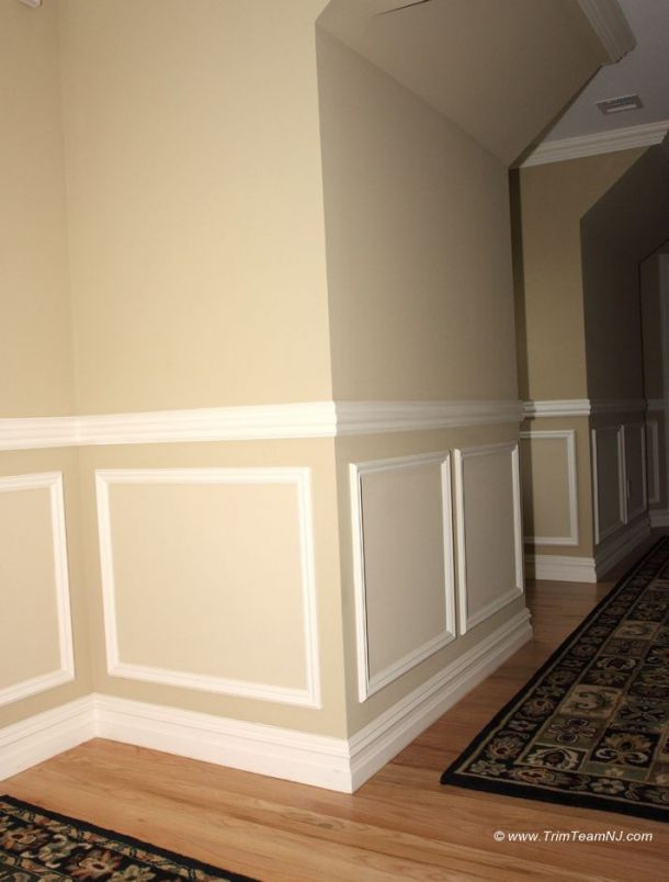 118 Shadow Boxes And Chair Molding On Hallway Westfield