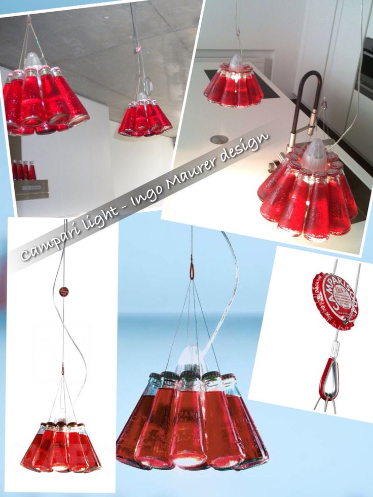 Use hashtag #saturdayrecycling for green ideas!! They could inspire someone Ingo Maurer design #camparilight #lamps #pendantlight #barfurniture #repurposedbottles #upcycledglassbottle #Gabriella #Ruggieri selection