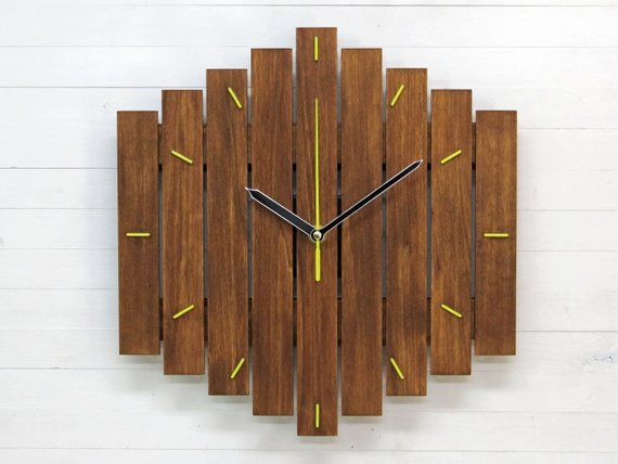 Industrial 12 Wall Clock For Modern Decor Unique Home Etsy Industrial Clock Wall Unique Wall Clocks Oversized Wall Clock