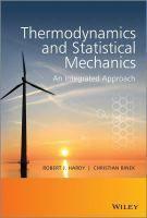 """Thermodynamics and Statistical Mechanics : An Integrated Approach"" Hardy, Robert J. #novetatsfiq"