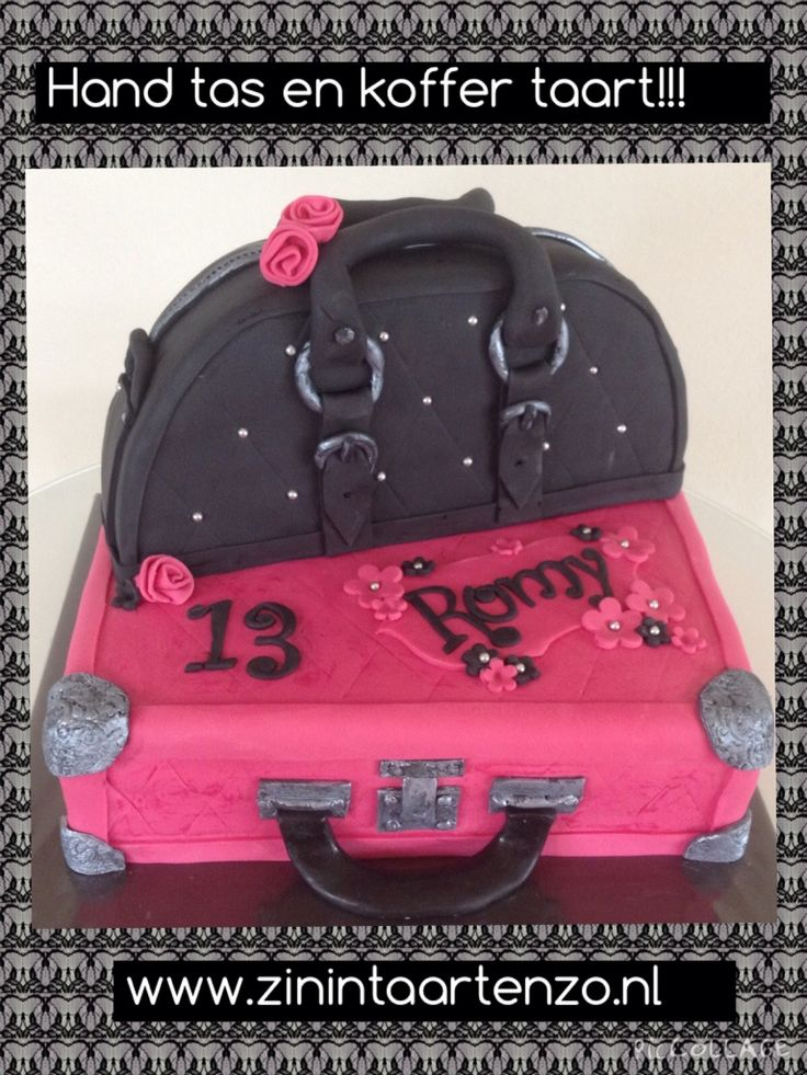 Handtas en koffer taart