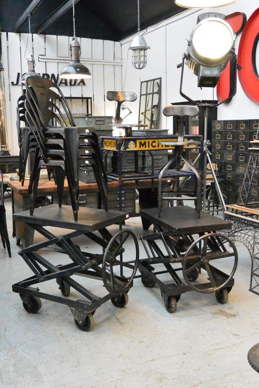 Table élévatrice chez Metal and woods