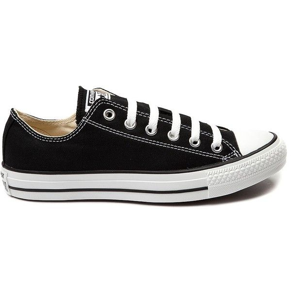 Converse Chuck Taylor All Star Lo Sneaker ($99) ❤ liked on Polyvore featuring shoes, sneakers, star shoes, converse footwear, white and black shoes, punk rock shoes and converse shoes