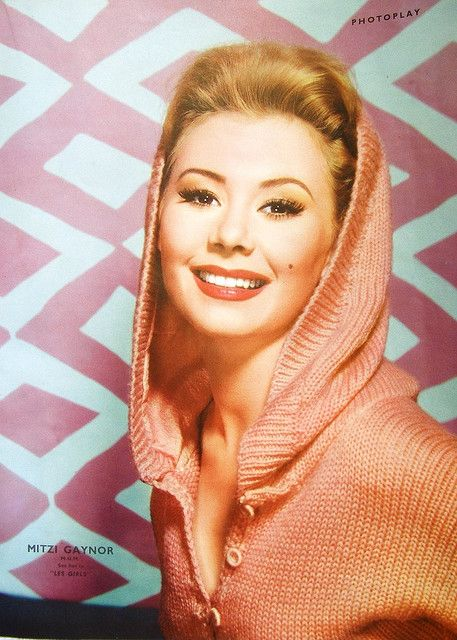 Portrait of Mitzi Gaynor from a 1950s edition of Photoplay magazine