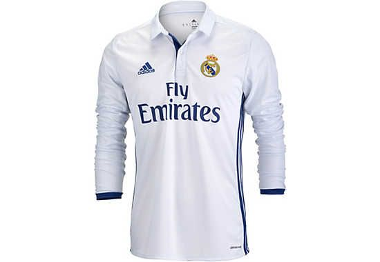 2016/17 adidas Real Madrid L/S Home Jersey. You can buy it from SoccerPro right now!