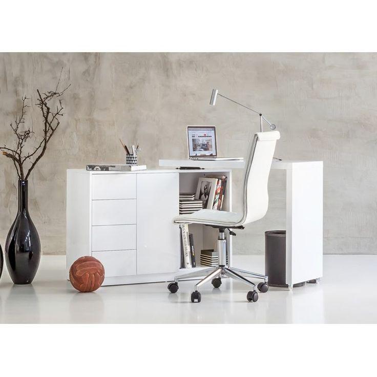 Schön Schreibtisch Kombination Logan   Weiß Puristische Und Geradlinige  Formgebung Bieten Viel Platz Und Verstaumöglichkeiten