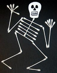 Easy DIY Q-Tip Skeleton- and so cute!
