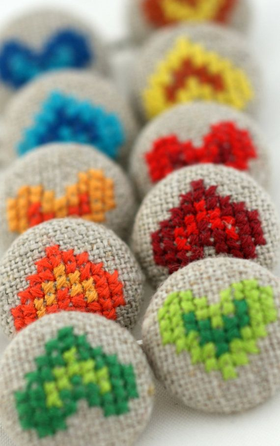 crossstitch hearts